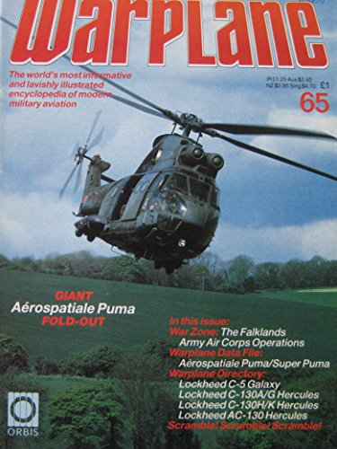 Warplane magazine Issue 65 Aerospatiale Puma/Super Puma cutaway drawing &...