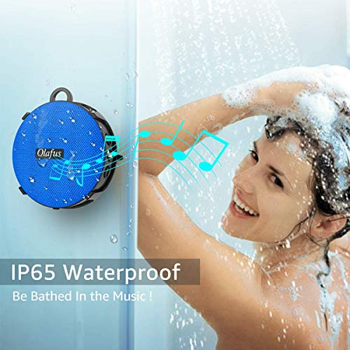 Olafus Shower Speaker, Waterproof Bluetooth Speaker, Portable Wireless Bathroom Speakers with Detachable Suction Cup, HD Sound, 10H Playtime, Bluetooth5.0, Built-in Mic for Outdoor, Beach, Travel