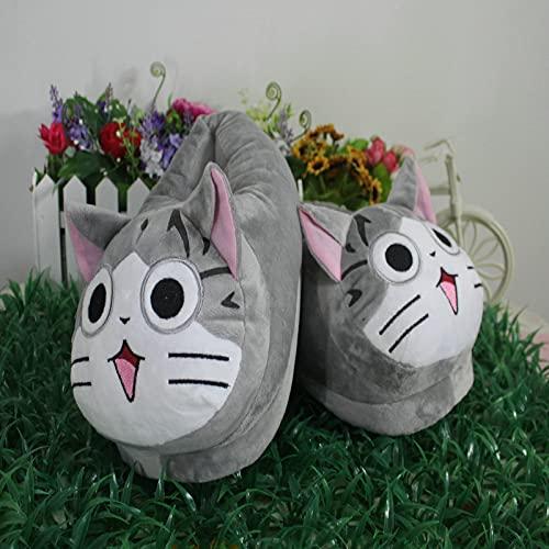 Creativo lindo dibujos animados Animación Queso gato Zapatillas Calientes Zapatillas Inicio Zapatillas Zapatos Algodón Niños Los Mejores Regalos