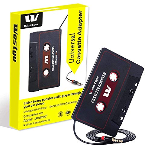 Westgo Audio Aux Cassette Adapter-Car Cassette Adapter-Audio Cassette Player-Retro and Vintage Cassette Adapter