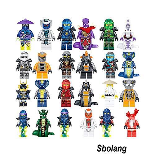Sbolang Ninjago Mini Figures Kai Jay Sensei Wu Master Building Blocks Toys Set (24pcs)
