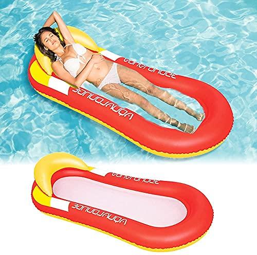 WOSNN Pool Hängematte mit Mesh, Aufblasbare Wasserhängematte luftmatratzen Liege Wasser Bett Floating Lounge Stuhl Schwimmbad Aufblasbarer Spielzeug für Erwachsene