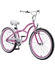 "BIKESTAR Bicicleta Infantil para niños y niñas a Partir de 10 años   Bici 24 Pulgadas con Frenos   24"" Edición Cruiser"
