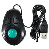 4DB Mini Trackball con Fili Mouse con Filo Chiavetta Controllo Portatile Dito a Mano Mouse per PC Computer Laptop