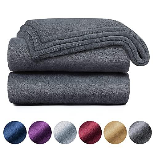 Yoofoss Kuscheldecke 150 x 200 cm Decke Graue Decke als Sofadecke Weiche Warme Couch Decken Sofa Decken Flauschige Wohndecke Schlafdecke