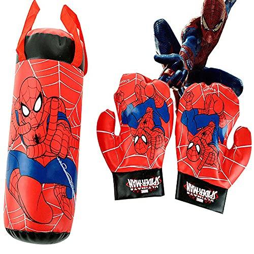 Spider-Man Marvel Spiderman Weihnachten Cartoon Spielzeug Avengers Kindertagsgeschenk Spider Man Boxing Handschuhe Spiderman Cosplay Spiele SportausrüStung Boxen Kinder Spider-Man Boxhandschuhe Set