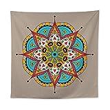 YDyun Tapiz,en algodón Puro,Ideal para Colgar en el cabecero de la Cama Toalla de Playa de Pared Sentado Manta Flores