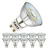 EACLL Bombillas LED GU10 2700K Blanca Cálida 5W Fuente de Luz 425 Lúmenes Equivalente 50W Halógena Lámpara. AC 230V Sin Parpadeo Focos, 120 ° Blanco Cálido Reflectoras Spotlight, 10 Pack