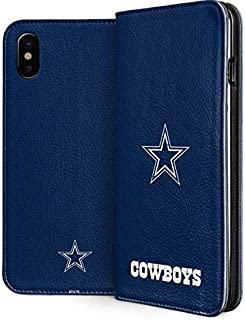 Skinit Folio Phone Case for iPhone Xs Max - Officially Licensed NFL Dallas Cowboys Distressed Design