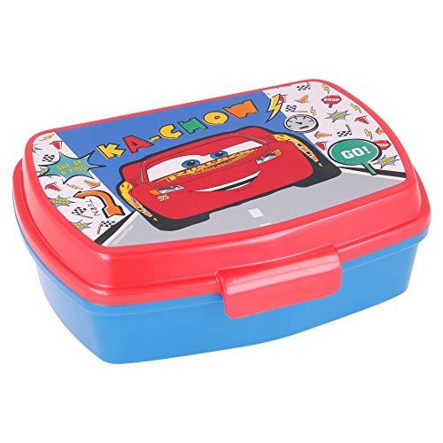 | Cars -Disney | Sandwichera Para Niños Decorada - Fiambrera Infantil | Caja Para El Almuerzo Y Porta Merienda Para Colegio - Lonchera