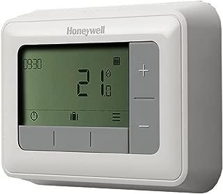 Honeywell T4H110A1021 T4 - Termostato programable (7 días), Color Blanco