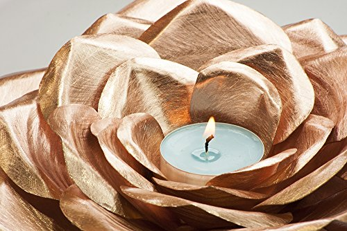 Copper Rose candle metal roses forever flowers blossom anniversary engagement wedding 7th 9th seventh ninth gift decoration wife husband