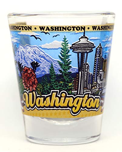 Washington State Wraparound Shot Glass