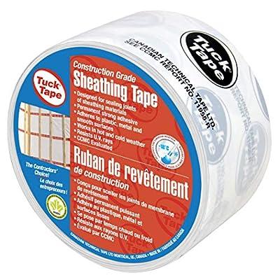 Tuck Tape Construction Grade White Sheathing Tape - 60 mm x 66 m