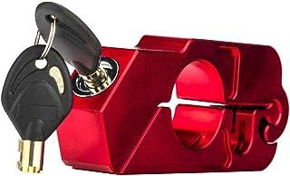 Kesoto Bloqueio de guidão de alumínio CNC universal vermelho para motocicleta com 2 chaves para motocicleta ATV Scooter