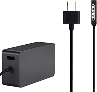 Power Supply for Surface RT Surface Pro 1 Surface Pro 2 Charger Adapter Including USB for Accessory Charging [Model:1536,12v,3.6A,48W]