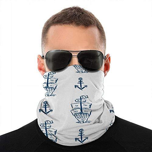 Nother Dibujado por la mano barco vela cara bufanda cubierta deporte al aire libre mujeres hombres cubierta cara variedad toalla cara cuello diadema