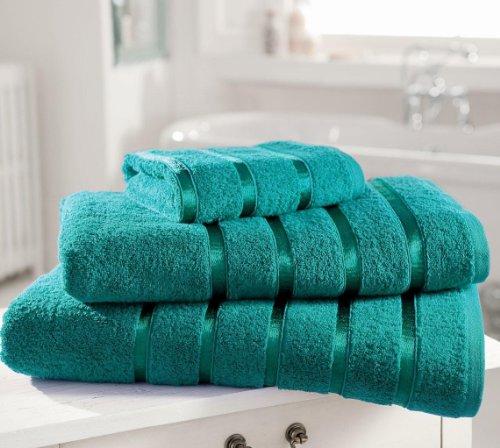 Gaveno Cavailia Kensington - Toalla de Mano (algodón Egipcio, Absorbente, 500 g/m², 4 Unidades, 50 x 80 cm), Color Verde