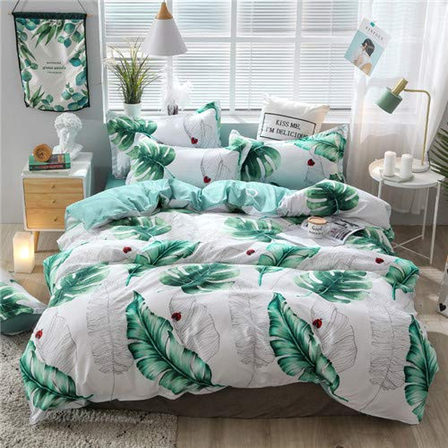 DJINGSN Classic Bedding Set 5 Size Grey Blue Grid Summer Bed Linen 4pcs/Set Duvet Cover Set Pastoral Bed Sheet AB Side Duvet Cover 2020