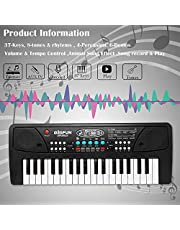 Zest toyz 37 Key Piano Keyboard Toy with DC Power Option, Recording and Mic
