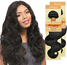 Sensationnel Unprocessed Malaysian Virgin Remy Human Hair Weave Bare & Natural Body Wave (10