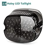 Upgraded Harley LED Tail Lights with Turn Signal Brake Driving Lights, Lay Down Led License Plate Tail Lamp for Harley Davidson Sportster FLST Electra Glides Road Glides 2002-2010 Dynas, Black 1PCS