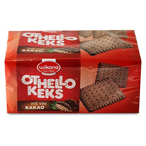 2er Pack Wikana Othello Keks (2 x 200 g), Kakaokeks sehr knusprig flacher, rechteckiger Keks