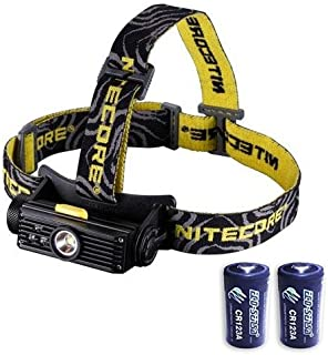 Nitecore HC90 Rechargeable XM-L2 LED Headlamp - 900 Lumens w/2x Free Eco-Sensa Batteries