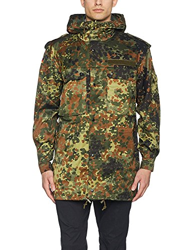 Fashion German Army Military Hooded Field JACKET Parka Coat Flecktarn Camo (X-Large)