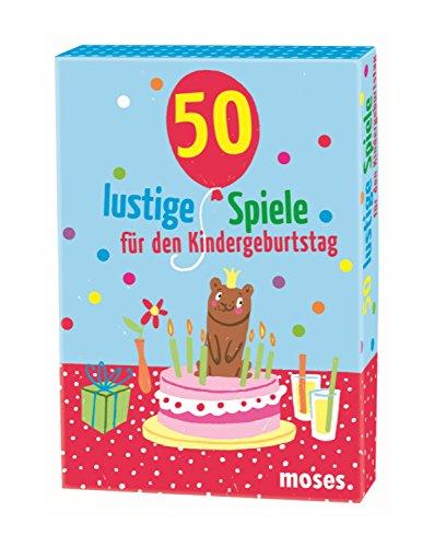 Moses 33385275 50 lustige Spiele für den Kindergeburtstag, Kinderbeschäftigung, Kartenset