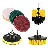 Dounan Cepillo De Taladro,Kit multiusos de cepillo de taladro de fregado de 6 piezas Accesorios de limpieza de taladro eléctrico Limpieza profunda de uso múltiple