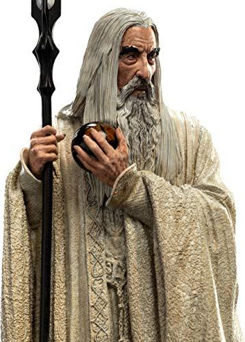 Weta Collectibles WT860103037 - Estatua de El Señor de los Anillos Saruman El Blanco 19 cm