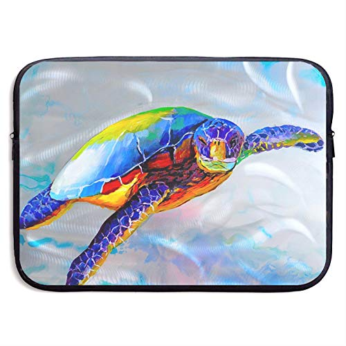 Laptop Sleeve Case Cover Bag, Computer Travel Pocket Pouch Handbag Compatible, Portable Tablet Slipcases Carry Bag for MacBook/HP/Acer/Asus/Dell Colorful Sea Turtle