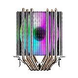 Noua Blizzard Disipador de calor de doble torre 6 Heatpipe para CPU Intel Socket 1200 1150 1151 1155 1156 1366 2011 AMD AM3 AM4 Cooler Cooling Fan 2200 rpm de 90 mm 4 colores fijos