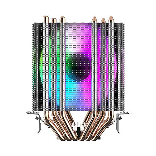Noua Blizzard Disipador de calor de doble torre 6 Heatpipe para CPU Intel Socket 1200 1150 1151 1155 1156 1366 2011 AMD AM3 AM4 Cooler Cooling Fan 2200 rpm de 90 mm 4 colores fijos