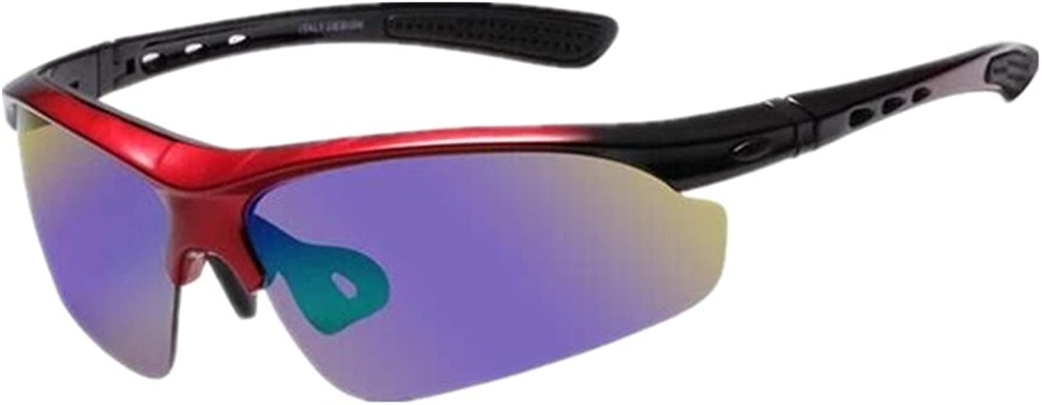 Classic UV Predection Sunglasses Polarized Sports Sunglasses for Cycling Running Glasses Sand Radiation Goggles (color   Red)