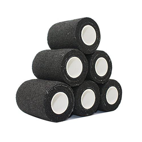 COMOmed selbstklebender verband elastische binde handgelenk bandage pflaster rolle Dog Bandagen Tierische Bandagen Schwarz 7.5 cm X 6 Bände