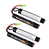 Melasta 2Pack 2/3A 9.6v 1600mAh Butterfly Nunchuck NIMH Battery Pack with Mini Tamiya
