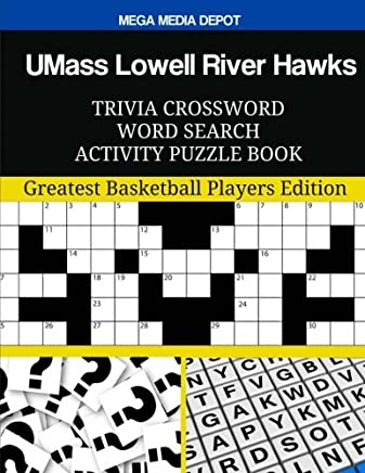 Umass Lowell River Hawks Trivia Crossword Word Search Activity Puzzle Book
