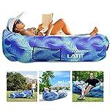 LATIT wasserdichte Aufblasbares Sofa,Luftsofa,Luft Couch,Luftsack,Luft Couch,Tragbarer Air Lounger...
