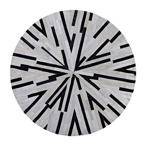 WYNZYDT Runder Teppich, Garderoben-Schlafzimmer Handgenähter Teppichkamm-Tisch-Nachtteppich Schwarze graue Nähte (größe : 1.2m in Diameter)