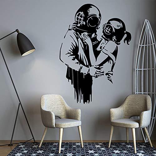 Abnehmbare banksy emarace Wohnkultur Moderne Acryl Dekoration Für Kinderzimmer Kinderzimmer Dekor Dekoration Wandbilder A1 30 * 30 CM