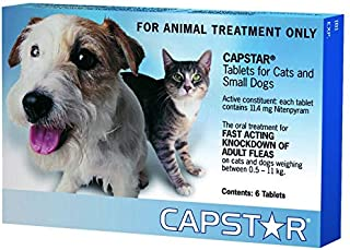 Capstar 11mg Blue Tablets for Small Dogs and Cats, 6 Count