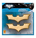 2 Bat shaped Batarangs Great accessory for any child or adult Dark Knight costume Child safe plastic Batman Dark Knight Rises is officially licensed by DC Comics Rubie's Costume is your family-owned source for costumes and accessories you need for ev...