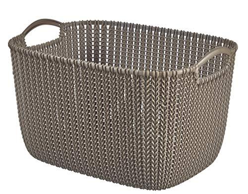 CURVER 226165Cesta de almacenaje Rectangular Tejer plástico marrón 38,5x 28,5x 23,5cm, 19L
