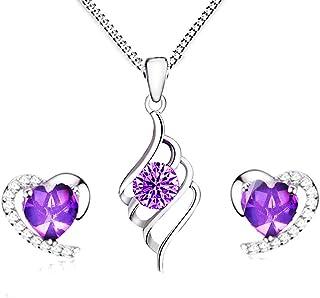 TreasureBay Beautiful 8 mm am/éthyste-Perles Ronde Pierre /&Collier//Bracelet//Boucles doreille-Pr/ésent/é dans une jolie bo/îte cadeau