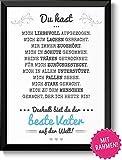 Bester Vater Bild im schwarzem Holz-Rahmen Geschenk Geschenkidee Danke sagen