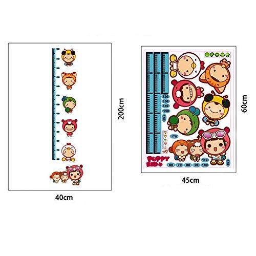 Chambre de bébé/chambre d'enfant/salle de classe décoratifs Toise Sticker mural Stickers, animal