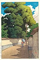川瀬巴水 版画 [金沢下本多町] 大正十年 大判ポスターサイズ 56×37.5cm 複製