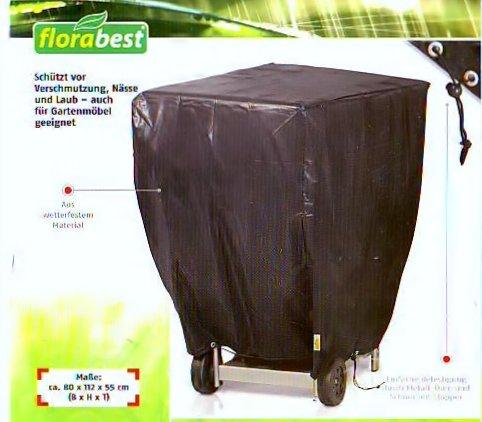 Florabest Grill-Schutzhülle /Plane aus wetterfestem Material 80 x 112 x 55